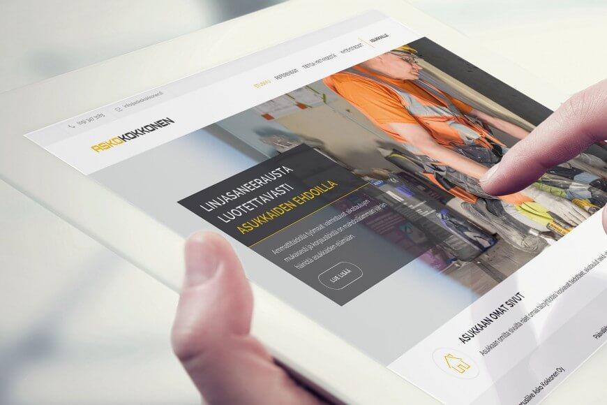 AK brändi ja verkkosivusto