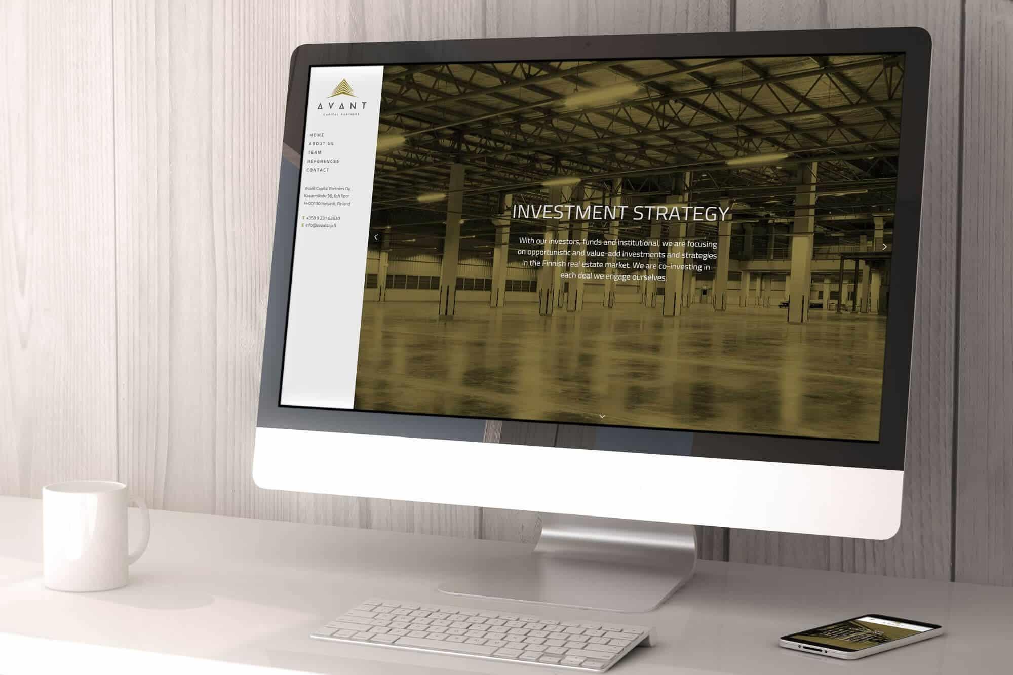 Avant Capital verkkosivut