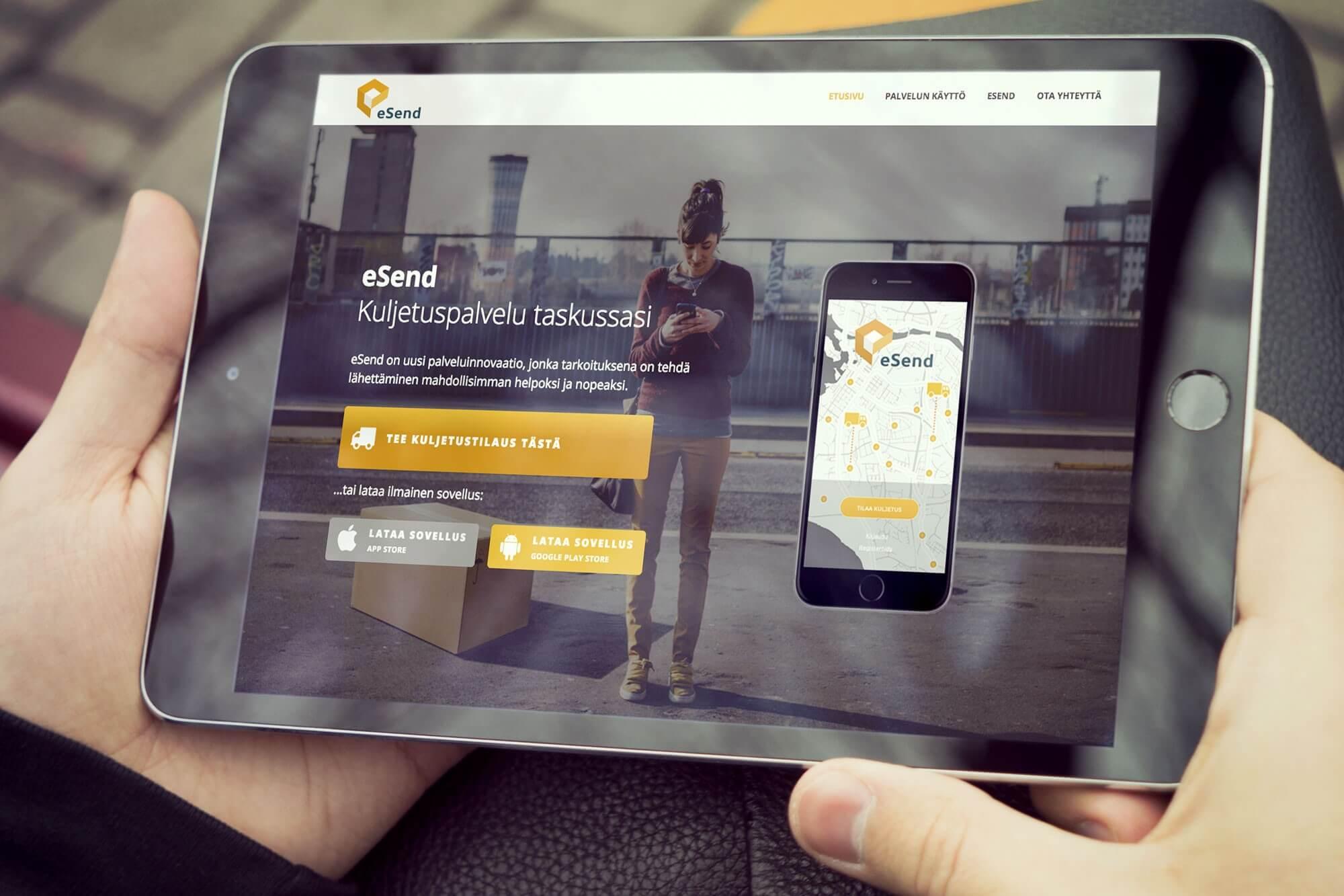 eSend verkkosivut
