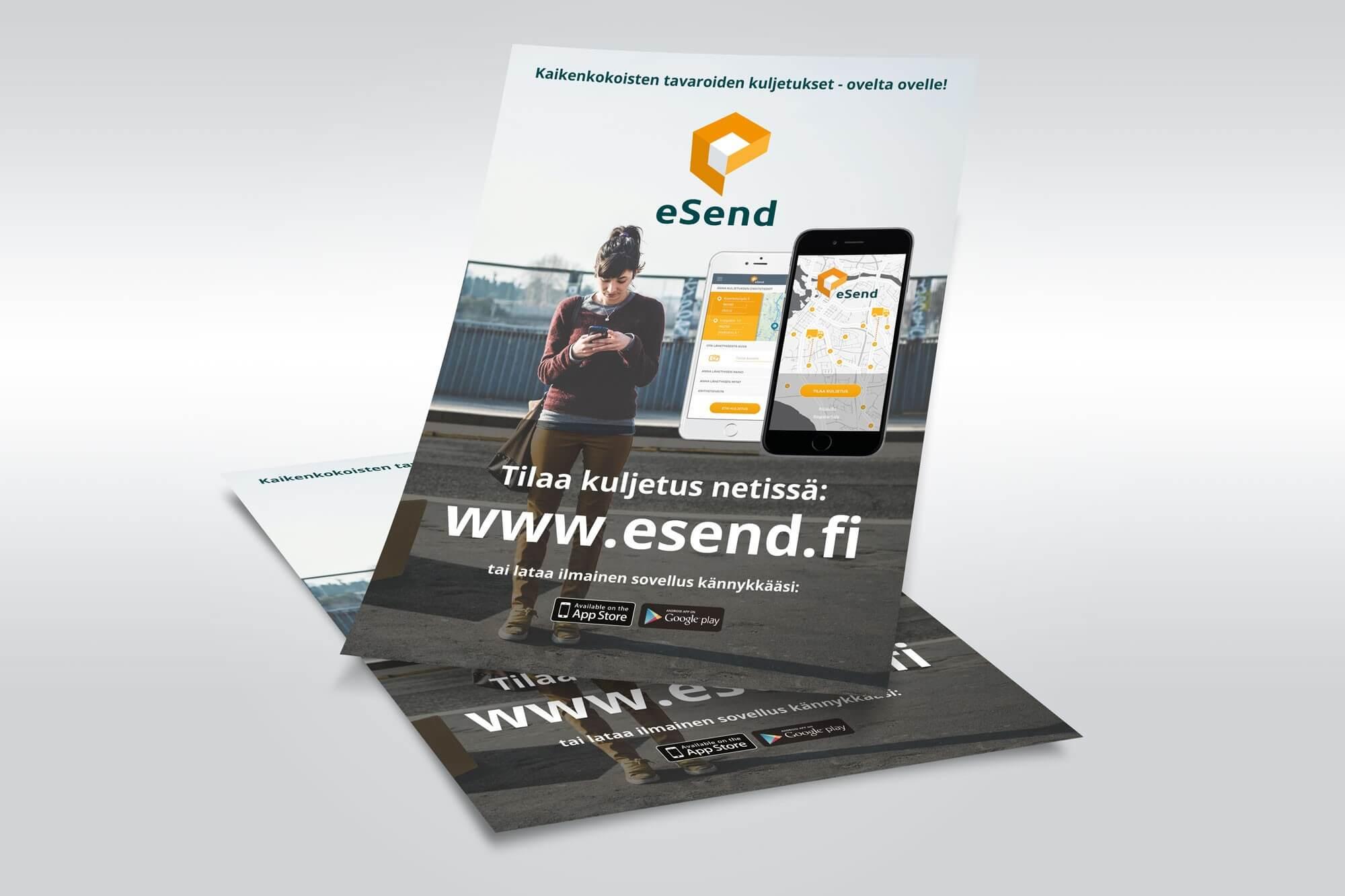 Mainokset ja flyerit