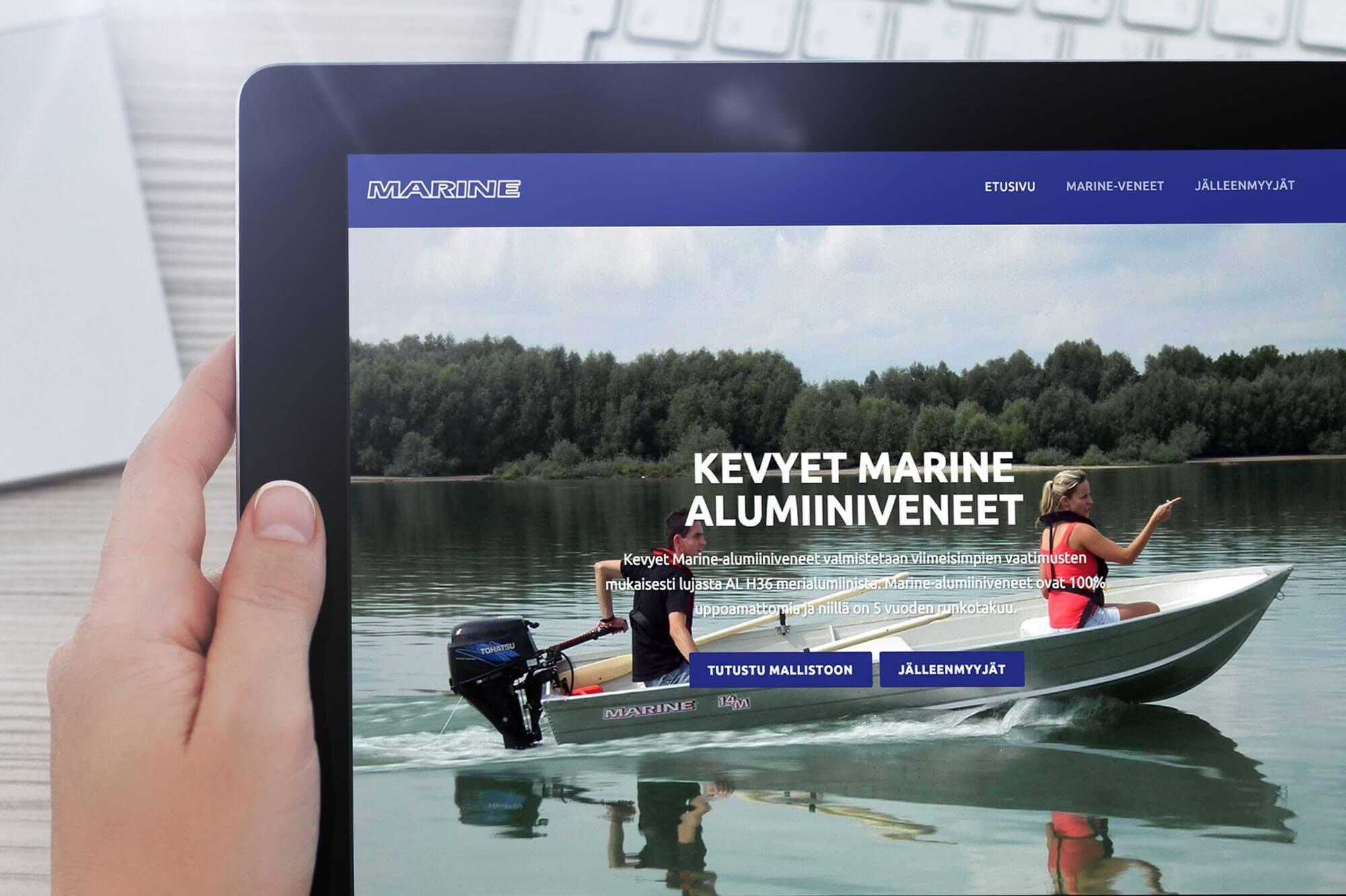 Marine verkkosivut