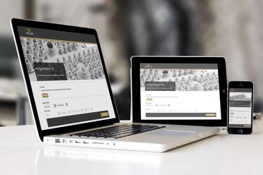 Trelleborg teollisuuskonsernin tuotteille verkkosovellus suunnittelijoiden avuksi