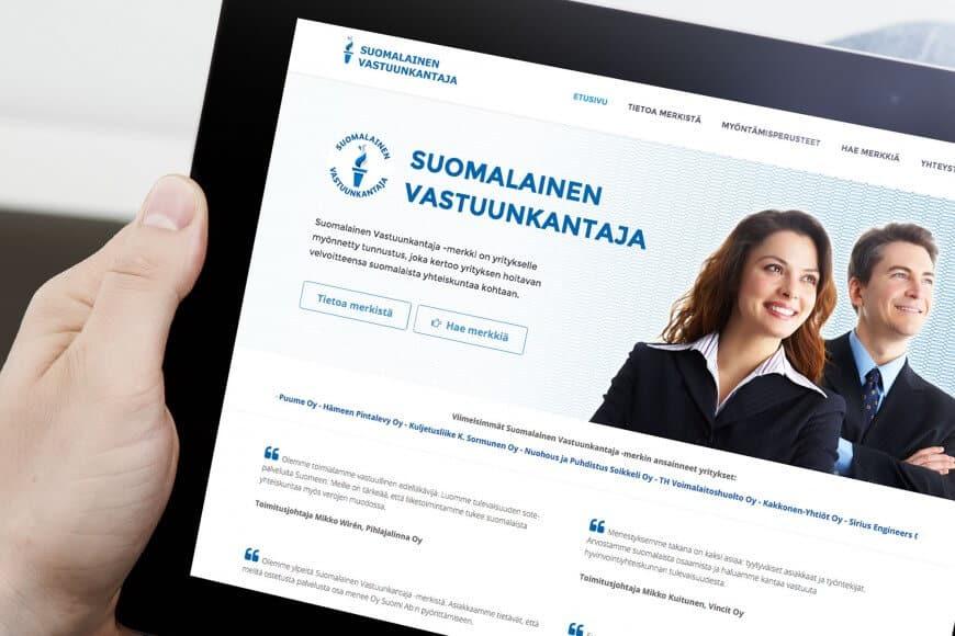 Vastuunkantaja.fi verkkosivusto