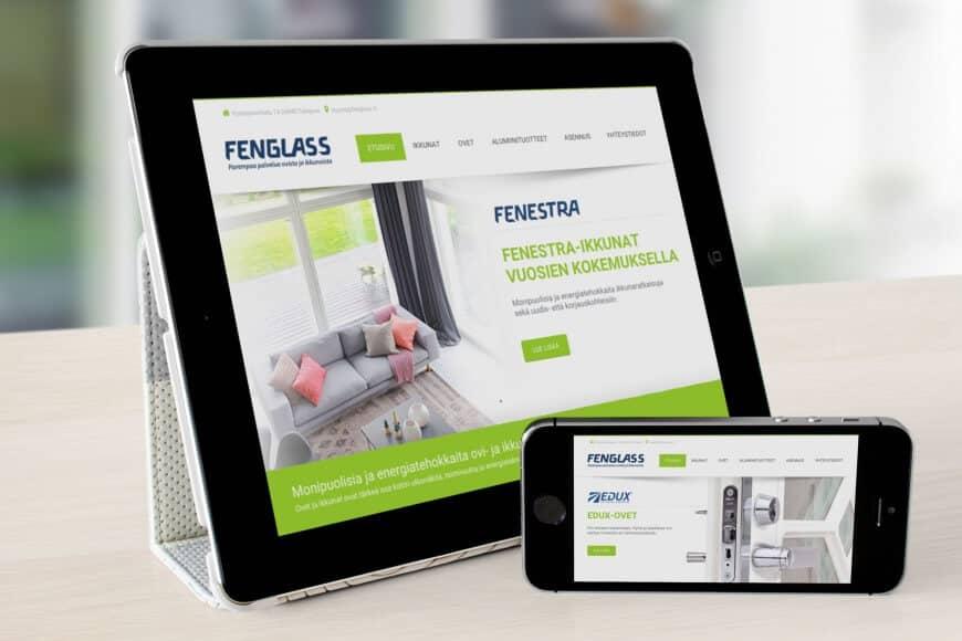 Fenglass verkkosivut ja markkinointi