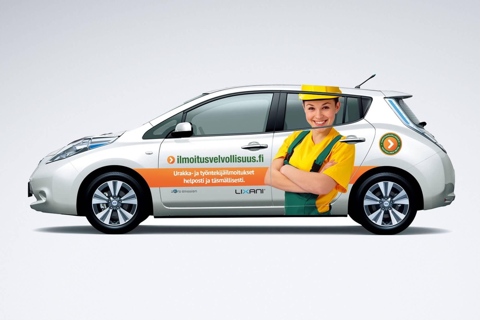 Henkilökunnan Nissan Leaf-sähköautot