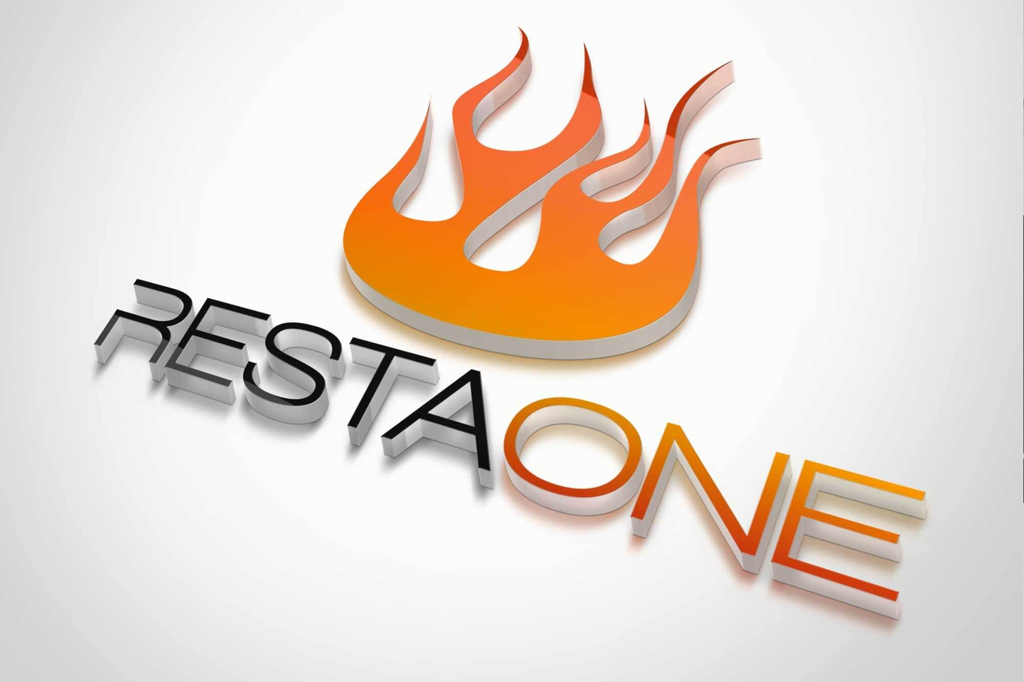 RestaOne logo liekkimerkillä