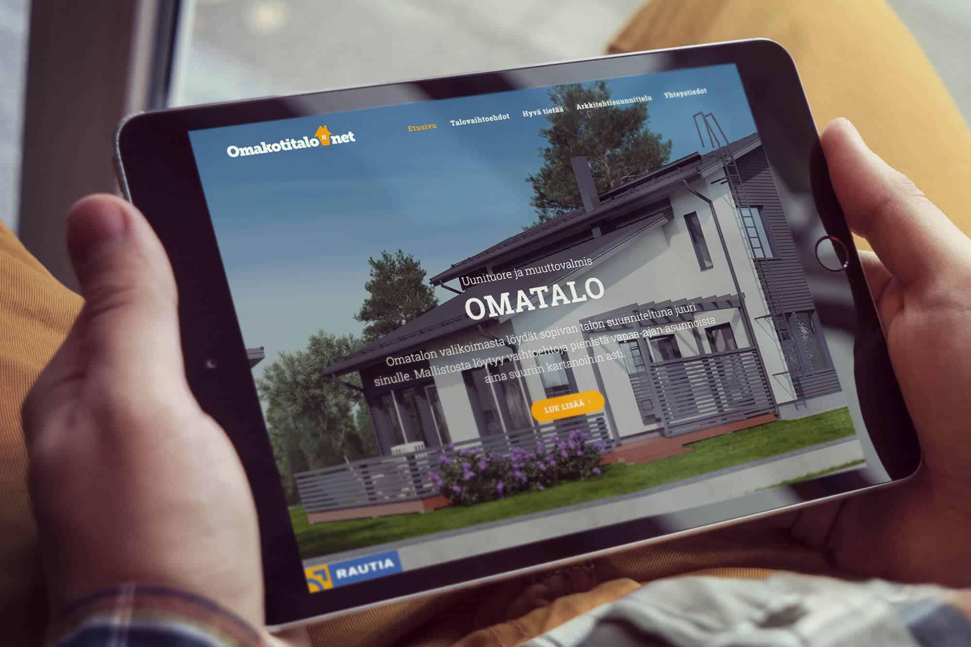 Omakotitalo.net verkkosivusto