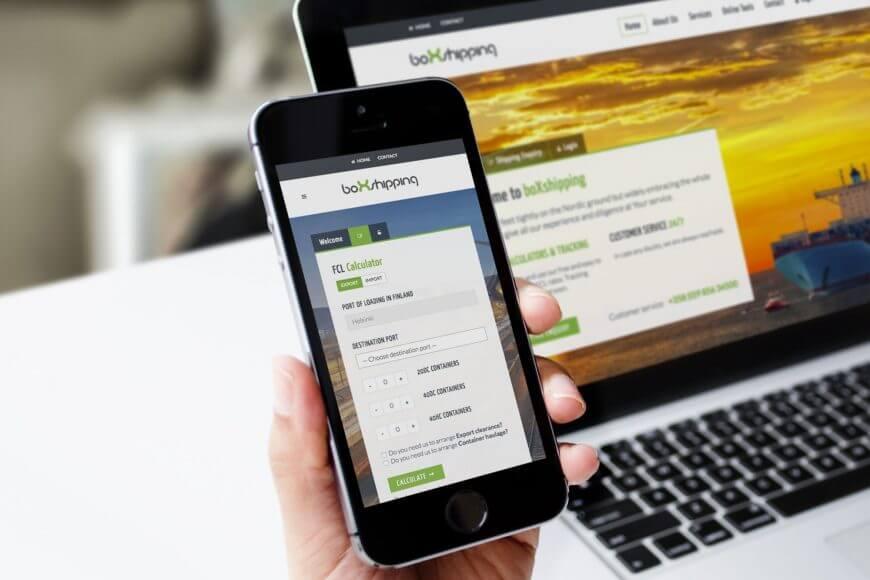 Box-Shipping verkkopalvelu ja online-rahtilaskuri