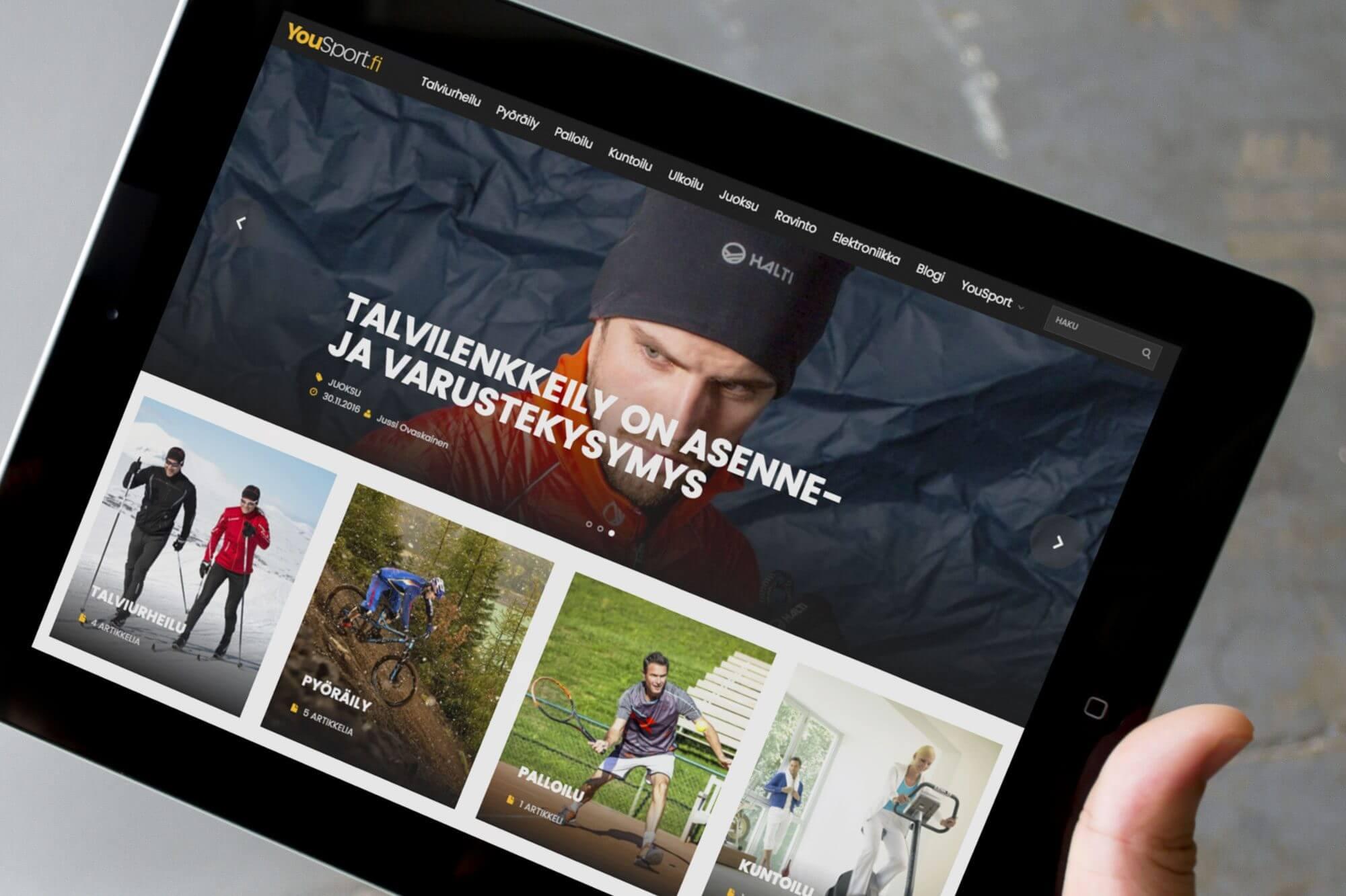 Yousport.fi -verkkosivusto