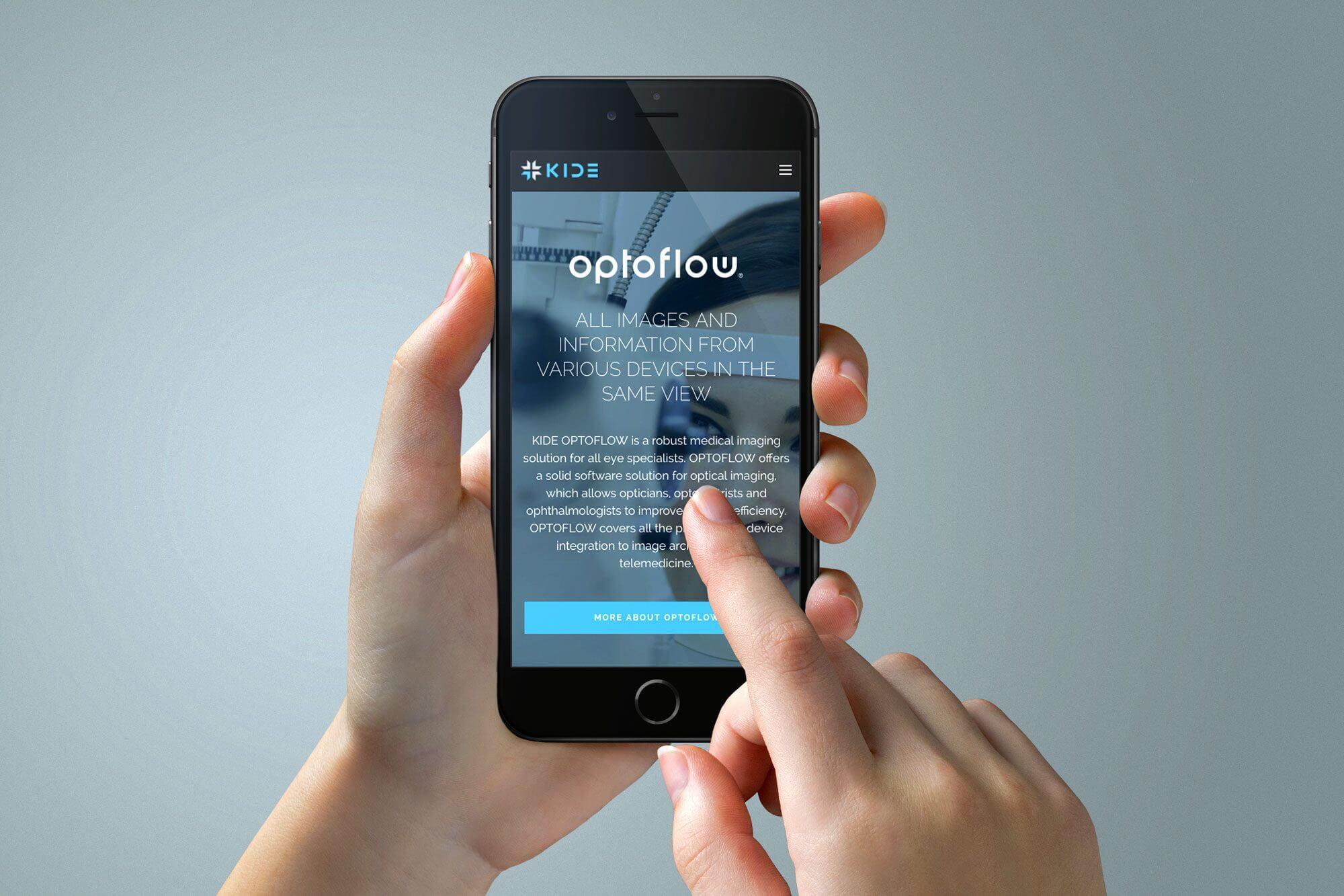 KIDE verkkosivusto mobiili