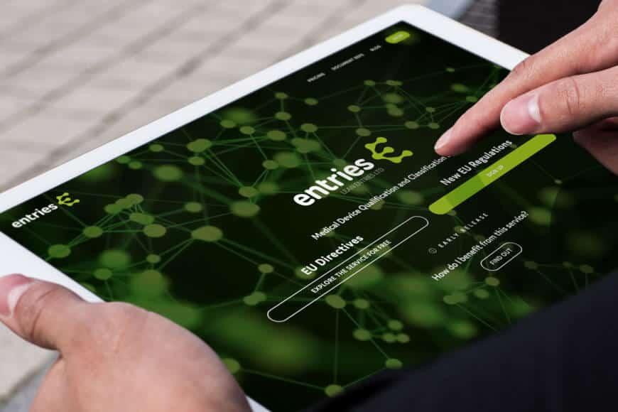 Lean Entries yritysilme ja verkkopalvelun käyttöliittymä