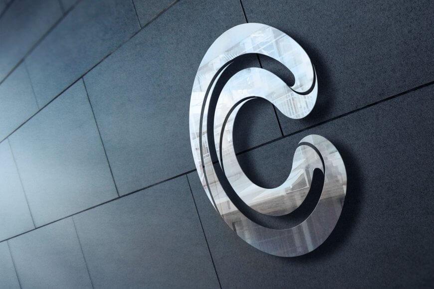 Konsulttiyrityksen tunnistettava liikemerkki ja yritysilme erottuu