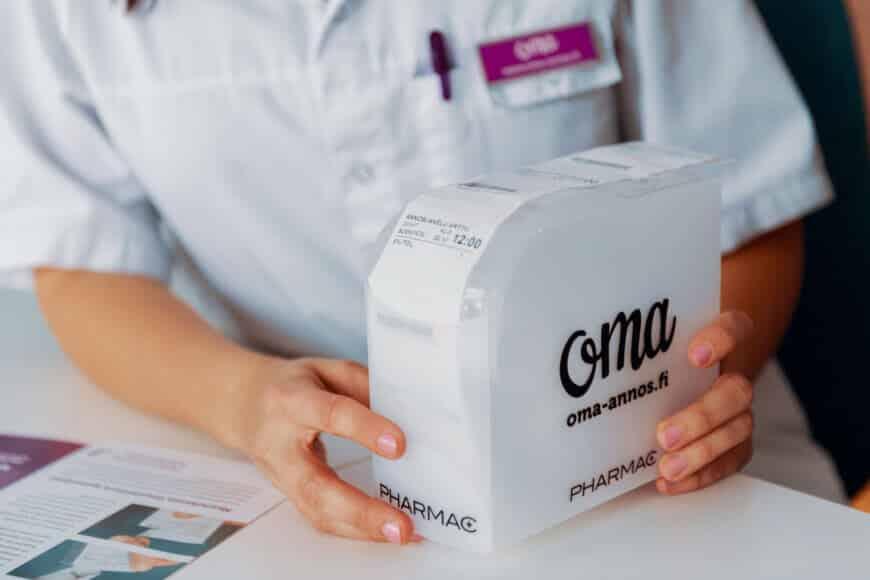 Lääkkeiden annosjakelupalvelulle lämminhenkinen brändi-ilme